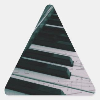 Eat Sleep Play (Piano) Triangle Sticker