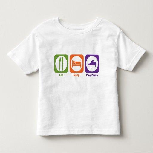 Eat Sleep Play Piano Tee Shirt