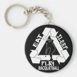 EAT, SLEEP, PLAY RACQUETBALL BASIC ROUND BUTTON KEY RING