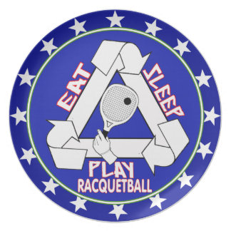 EAT, SLEEP, PLAY RACQUETBALL - REPEAT PLATES