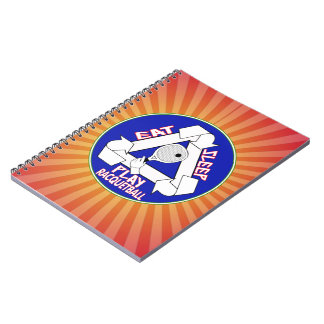 EAT, SLEEP, PLAY RACQUETBALL - REPEAT SPIRAL NOTEBOOK