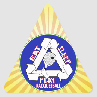 EAT, SLEEP, PLAY RACQUETBALL - REPEAT TRIANGLE STICKER