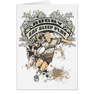 Eat, Sleep Play Rugby Greeting Card