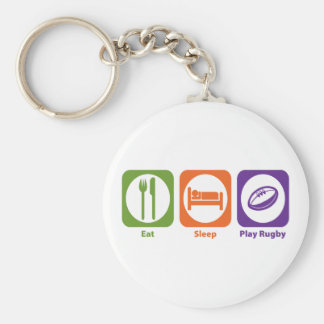 Eat Sleep Play Rugby Key Ring
