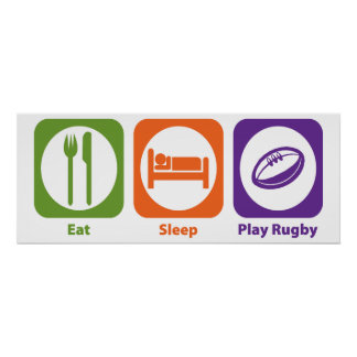 Eat Sleep Play Rugby Poster