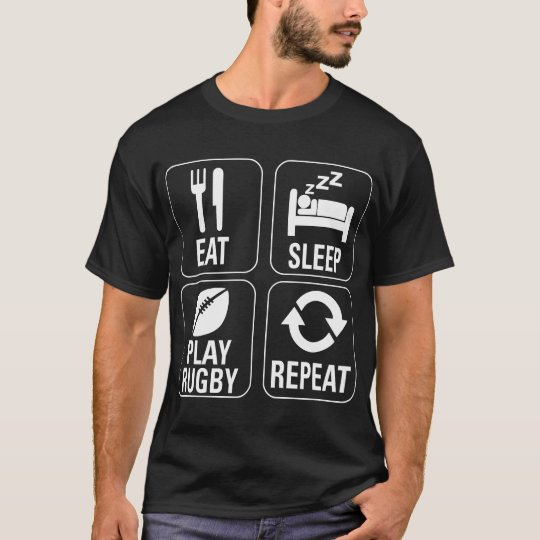 Eat Sleep Play Rugby Repeat Lifestyle Tshirt