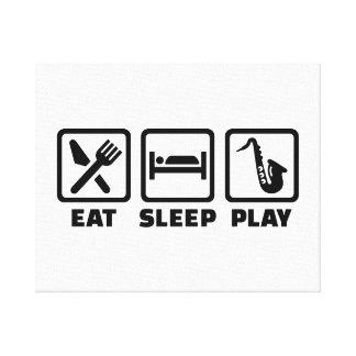 Eat Sleep Play Saxophone Canvas Print