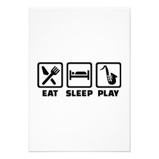 Eat Sleep Play Saxophone Custom Invites