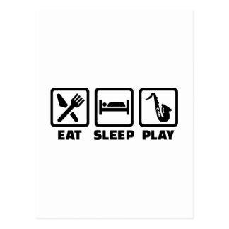 Eat Sleep Play Saxophone Post Card