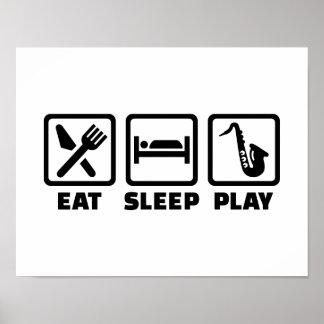 Eat Sleep Play Saxophone Poster