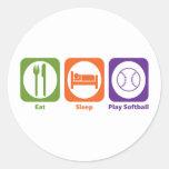 Eat Sleep Play Softball Stickers