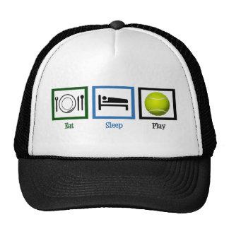 Eat Sleep Play Tennis Cap