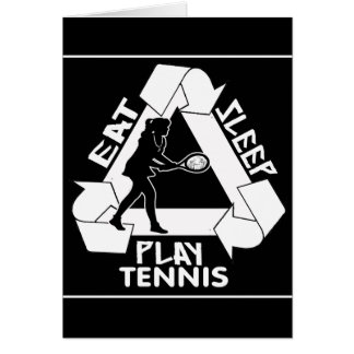 Eat Sleep Play TENNIS - Do It Again Greeting Card