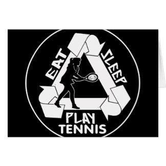 Eat Sleep Play TENNIS - Do It Again Greeting Cards