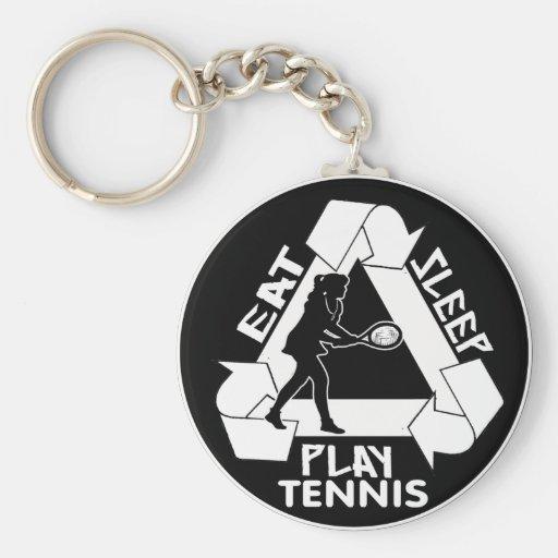 Eat Sleep Play TENNIS - Do It Again Key Chains