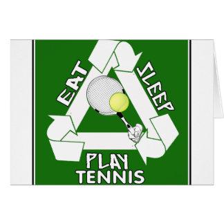 Eat Sleep PLAY TENNIS! Greeting Card