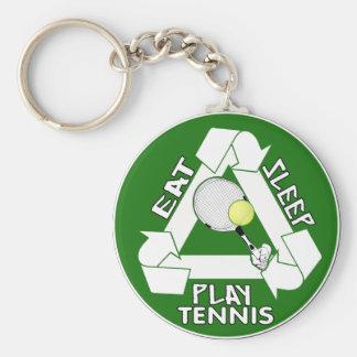 Eat Sleep PLAY TENNIS! Key Chains