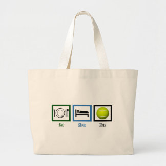 Eat Sleep Play Tennis Large Tote Bag