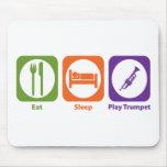 Eat Sleep Play Trumpet Mouse Mats