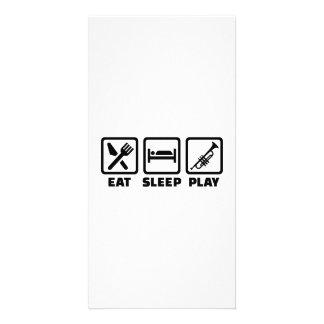 Eat Sleep Play Trumpet Custom Photo Card