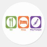 Eat Sleep Play Trumpet Sticker
