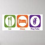 Eat Sleep Play Tuba Posters