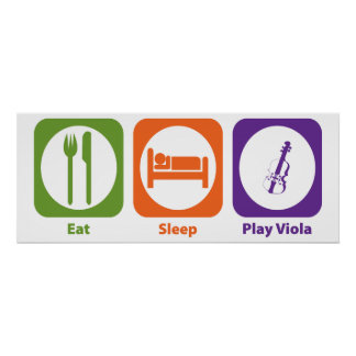 Eat Sleep Play Viola Poster