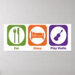 Eat Sleep Play Violin Posters