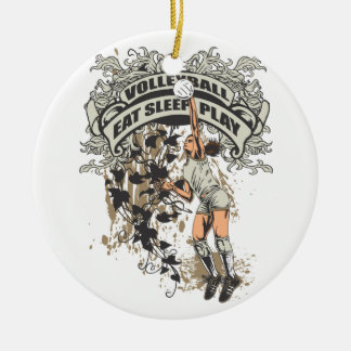 Eat, Sleep, Play Volleyball Christmas Ornament