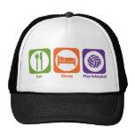 Eat Sleep Play Volleyball Mesh Hat