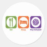 Eat Sleep Play Volleyball Sticker