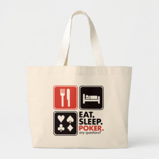Eat Sleep Poker Large Tote Bag
