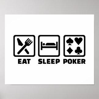 Eat Sleep Poker Print