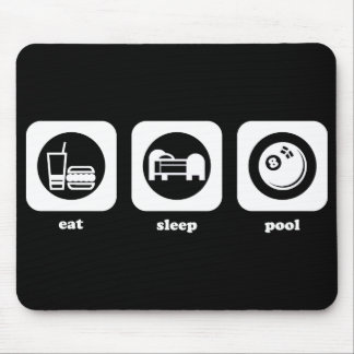 Eat. Sleep. Pool. Mousepad