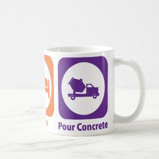 Eat Sleep Pour Concrete Basic White Mug