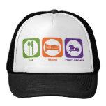 Eat Sleep Pour Concrete Trucker Hats