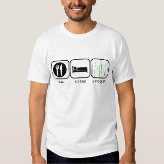 Eat Sleep Program T Shirts