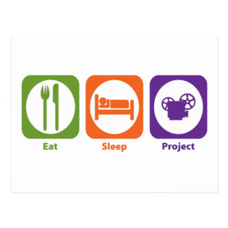 Eat Sleep Project Postcard