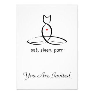 Eat Sleep Purr - Fancy style text. Card