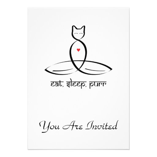 Eat Sleep Purr - Sanskrit style text. Personalized Announcements