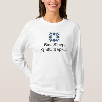 Eat. Sleep. Quilt. Repeat. Women's Long sleeve T-Shirt