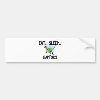 Eat Sleep RAPTORS Bumper Sticker