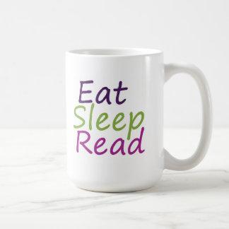 Eat Sleep Read Basic White Mug