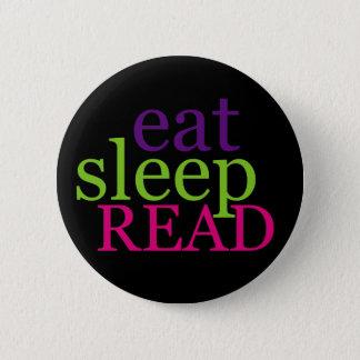 Eat, Sleep, READ - Retro 6 Cm Round Badge