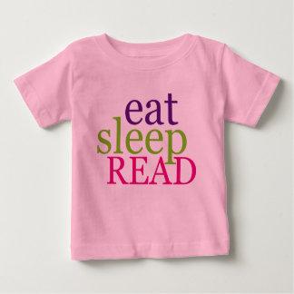 Eat, Sleep, READ - Retro Baby T-Shirt