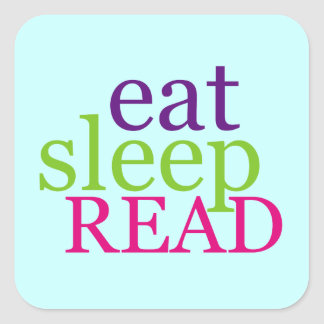 Eat Sleep READ - Retro Stickers