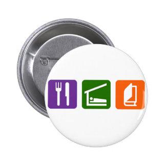 Eat Sleep Reading 2 6 Cm Round Badge