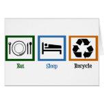 Eat Sleep Recycle Greeting Card