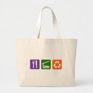 Eat Sleep Recycle Large Tote Bag