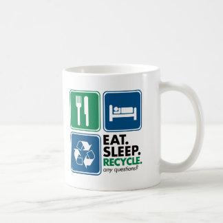 Eat Sleep Recycle Mug